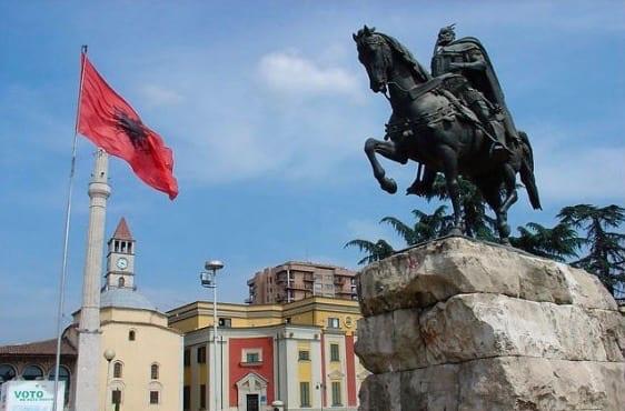 Skanderbeg Monument in Tirana 1 1