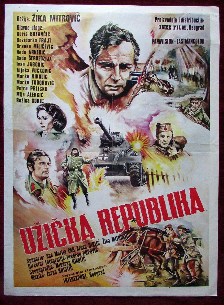 1974 Original Movie Poster Uzicka Republika 67 Days WIWI Mitrovic Buzancic YU 182320163081