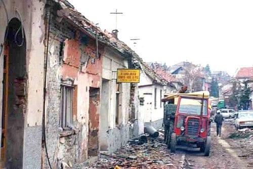 Croatian War 1991 Vukovar street