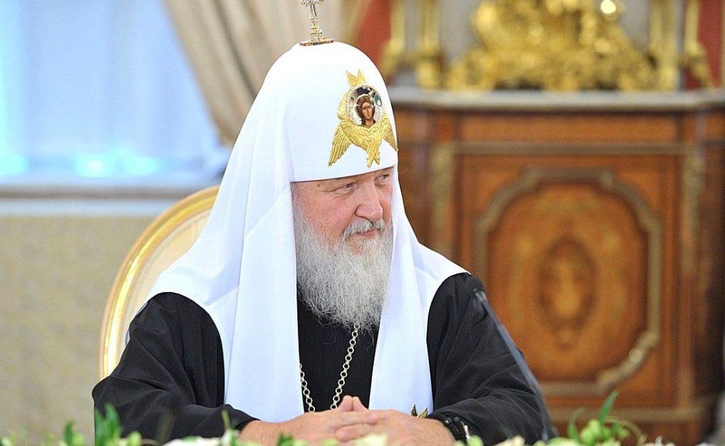Patriarh Moskovskij i vseya Rusi Kirill na vstreche s predstavitelyami pomestnyh pravoslavnyh tserkvej.