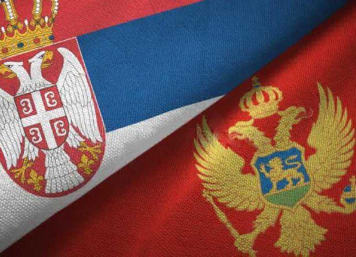 serbia montenegro two flags textile cloth fabric texture serbia montenegro flags together textile cloth fabric texture 146939138 1