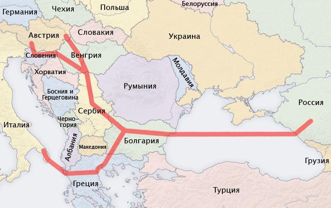 South Stream map ru