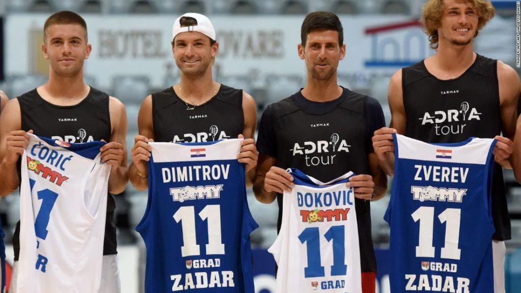 Grigor Dimitrov Tennis event organized by Novak Djokovic under fire