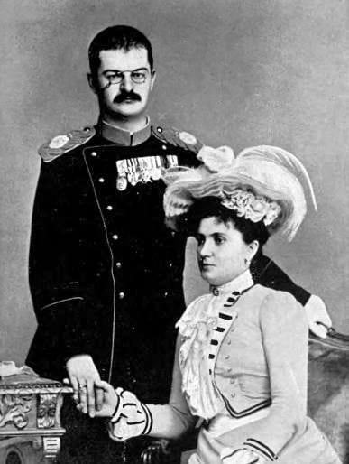King Alexander I Obrenovi of Serbia and Queen Draga ca. 1900