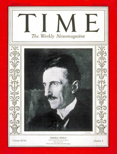 Nikola Tesla on Time Magazine 1931