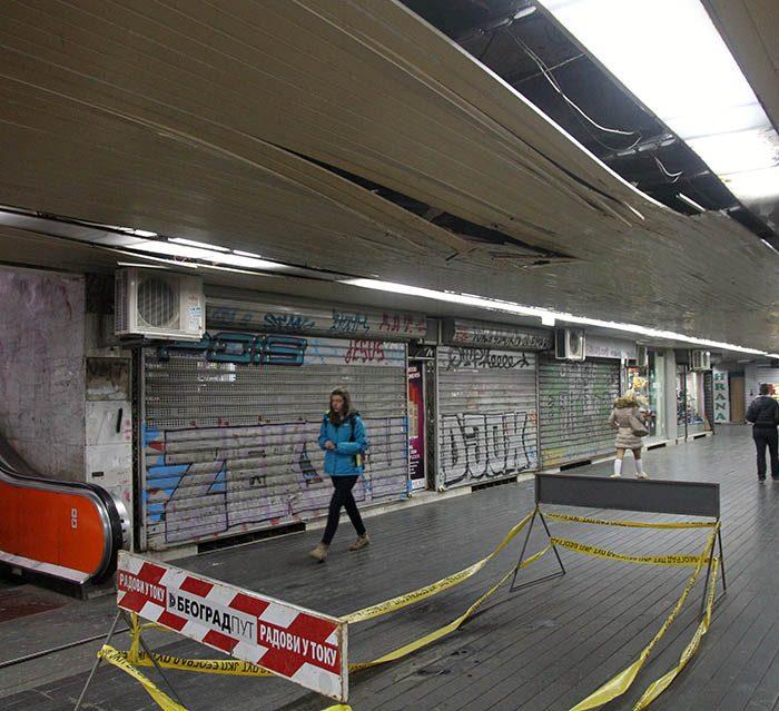 podzemni prolaz terazije urusava se plafon mondo goran sivacki 31