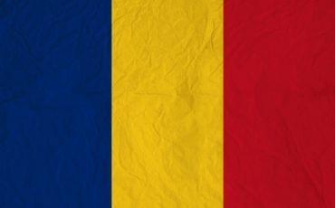 flag of romania with vintage old paper 39526 261