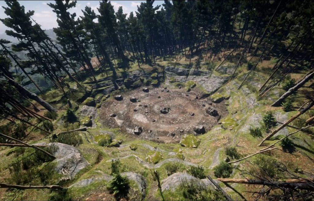 Mesto padeniya meteorita Red Dead Redemption 2