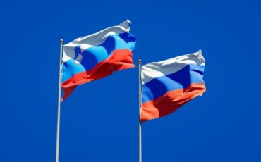 beautiful national state flags of slovenia and russia together on blue sky 3d artwork 337817 4107
