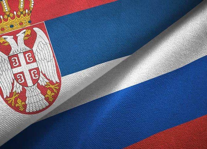 Serbia Russia Flags